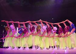 July 12, 2019, Gwangju, South Korea: Performers take part in the opening ceremony of the 18th FINA World Championships at Universiade Gymnasium on Kwangju Women's University campus in Gwangju, 330 kilometers south of Seoul. (Credit Image: © Fina Gwangju 2019 via ZUMA Wire)