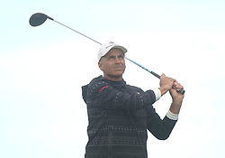 May 24, 2019 - Benton Harbor, NY, U.S. - ROCHESTER, NY - MAY 24:  Rocco Mediate hits his tee shot during the second round of the KitchenAid Senior PGA Championship at Oak Hill Country Club on May 24, 2019 in Rochester, New York. (Photo by Jerome Davis/Icon Sportswire) (Credit Image: © Jerome Davis/Icon SMI via ZUMA Press)