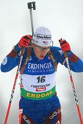 Julie Carraz-Collin (FRA) at Women 15 km Individual at E.ON Ruhrgas IBU World Cup Biathlon in Hochfilzen (replacement Pokljuka), on December 18, 2008, in Hochfilzen, Austria. (Photo by Vid Ponikvar / Sportida)