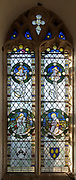 Stained glass window in church of Saint Margaret, South Elmham, Suffolk, England, UK c 1917 possibly by FC Eden