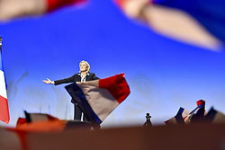 April 27, 2017 - Nice, France - French far-right leader and presidential candidate MARINE LE PEN campaigns in Nice during an election campaign rally.   (Credit Image: © Panoramic via ZUMA Press)