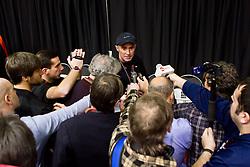 New Balance Indoor Grand Prix track meet: Alberto Salazar greets press