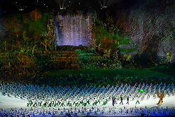 JAKARTA, Aug. 18, 2018  Delegation of China's Macao enters the Gelora Bung Karno (GBK) Main Stadium at the opening ceremony of the 18th Asian Games in Jakarta, Indonesia, Aug. 18, 2018. (Credit Image: © Cheong Kam Ka/Xinhua via ZUMA Wire)
