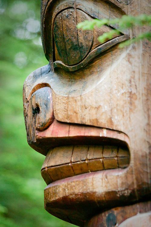 Tlingit/Haida totem detail, Sitka National Historic Park, Alaska