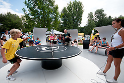 A1 table tennis at A1 Beach Volleyball Grand Slam tournament of Swatch FIVB World Tour 2010, on July 27, 2010 in Klagenfurt, Austria. (Photo by Matic Klansek Velej / Sportida)