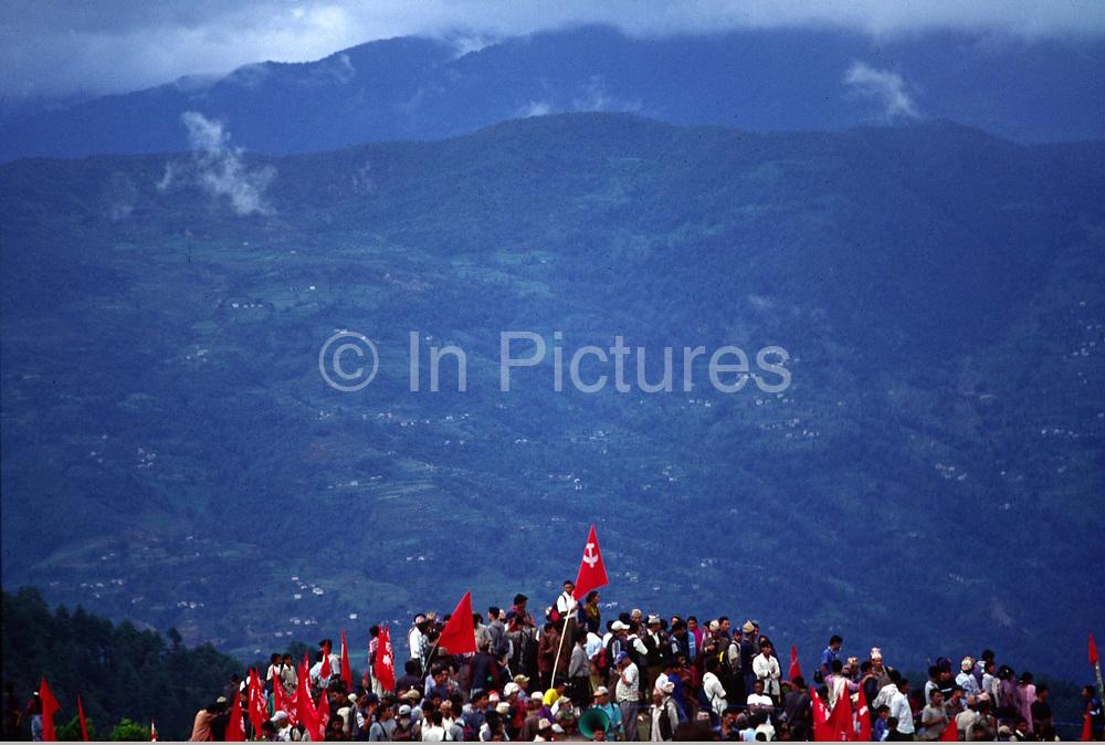Mass Maoist Rally Dolakha district, Nepal