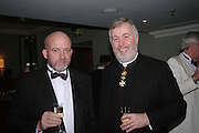 Tom Caroll and Father  Huw Kennedy. White Knights Ball, Grosvenor House Hotel 7 January 2005. ONE TIME USE ONLY - DO NOT ARCHIVE  © Copyright Photograph by Dafydd Jones 66 Stockwell Park Rd. London SW9 0DA Tel 020 7733 0108 www.dafjones.com