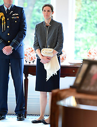 Prince George's Nanny Maria Teresa Turrion Borrallo with the The Duke and Duchess of Cambridge and Prince George attend the Plunket Parent's Group at Government  House in Wellington, New Zealand. Wednesday, 9th April 2014.  by James Whatling / i-Images / Pool