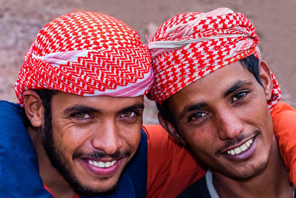 Bedouin men, Dana Biosphere Reserve, Wadi Feynan, Jordan.