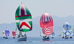 Sailing - SCOTLAND  - 25th-28th May 2018<br /> <br /> The Scottish Series 2018, organised by the  Clyde Cruising Club, <br /> <br /> First days racing on Loch Fyne.<br /> <br /> CYCA Class 6 Downwind with 2481C, Orwell Lass, Alistair N Gay, KOBSC, Nicholson 35, GBR3742T, Radioactivity, Oliver Epsom, CCC, Colvic UFO 27<br /> <br /> Credit : Marc Turner<br /> <br /> <br /> Event is supported by Helly Hansen, Luddon, Silvers Marine, Tunnocks, Hempel and Argyll & Bute Council along with Bowmore, The Botanist and The Botanist