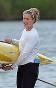 Reading. United Kingdom.  GBR W1X. Mathilda HODGKINS-BURNE,  2014 Senior GB Rowing Trails, Redgrave and Pinsent Rowing Lake. Caversham.<br /> <br /> 13:30:19  Saturday  19/04/2014<br /> <br />  [Mandatory Credit: Peter Spurrier/Intersport<br /> Images]