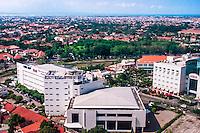Java, East Java, Surabaya. View of  Surabaya from Garden Palace Hotel. World Trade center In the foreground,