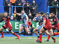 Rugby Union - 2018 / 2019 European Rugby Champions Cup - Pool Three: Cardiff Blues vs. Lyon<br /> <br /> ,Harri Millard, of Cardiff Blues: attacks at Cardiff Arms Park.<br /> <br /> COLORSPORT/WINSTON BYNORTH
