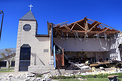 August 29, 2017 - Rockport, TX, USA - The First Baptist Church in Rockport, Texas, had extensive damage during Hurricane Harvey, as seen on Tuesday, Aug. 29, 2017. (Credit Image: © Rachel Denny Clow/TNS via ZUMA Wire)