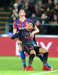 December 28, 2017 - London, England, United Kingdom - Crystal Palace's Martin Kelly holds onto Arsenal's Alexis Sanchez..during Premier League  match between Crystal Palace and Arsenal at Selhurst Park Stadium, London,  England 28 Dec 2017. (Credit Image: © Kieran Galvin/NurPhoto via ZUMA Press)