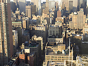 Overview of midtown Manhattan NYC.