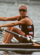 Molesey, Great Britain. GBR LW1X Sue KEY, 1992 British International Rowinig Training on the Molesey Reach, Surrey,  [Mandatory Credit. Peter Spurrier/Intersport Images] +1992 +Molesey +Henley 1992 GBRowing Training, Molesey/Henley, United Kingdom