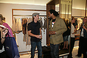 SEAN BROSNAN AND TIM WADE, Gas new concept Flagship store opening. Duke of York Sq. London. 9 May 2007.  -DO NOT ARCHIVE-© Copyright Photograph by Dafydd Jones. 248 Clapham Rd. London SW9 0PZ. Tel 0207 820 0771. www.dafjones.com.