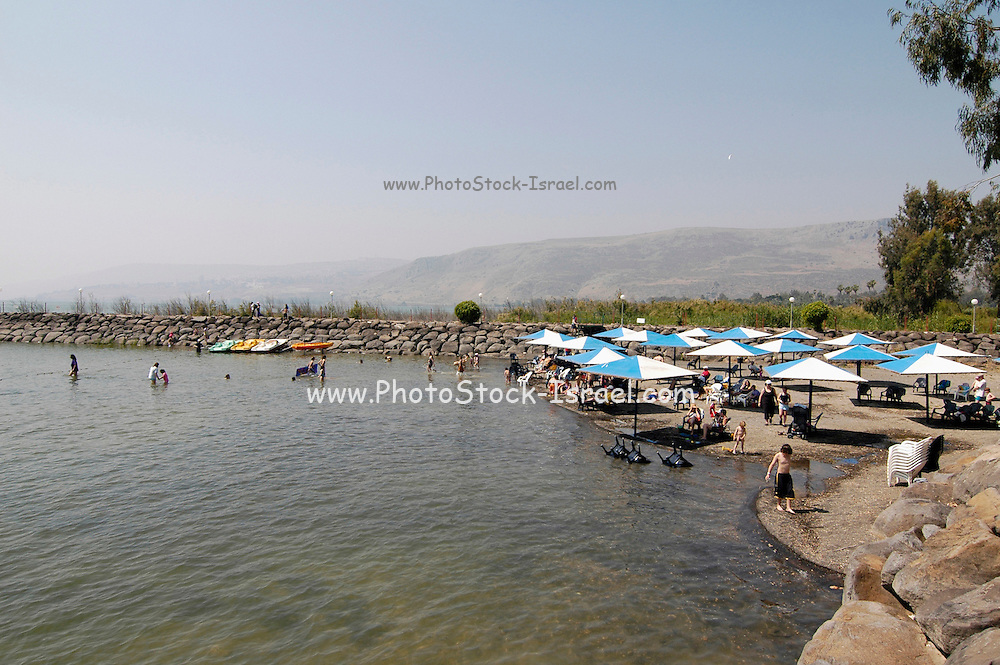 bathing at the sea of Galilee