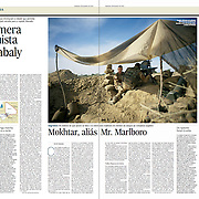 "Tearsheet of ""Mali War: Diabaly"" published in Expresso"