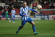 Brighton & Hove Albion midfielder Jiri Skalak (8) runs onto the ball during the EFL Sky Bet Championship match between Rotherham United and Brighton and Hove Albion at the AESSEAL New York Stadium, Rotherham, England on 7 March 2017. Photo by Mark P Doherty.