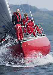 Sailing - SCOTLAND  - 27th May 2018<br /> <br /> 3rd days racing the Scottish Series 2018, organised by the  Clyde Cruising Club, with racing on Loch Fyne from 25th-28th May 2018<br /> GBR4203, Stargazer, A Bilsland /A Campbell, Arran Yacht Club, Grand Soleil 34<br /> <br /> Credit : Marc Turner<br /> <br /> Event is supported by Helly Hansen, Luddon, Silvers Marine, Tunnocks, Hempel and Argyll & Bute Council along with Bowmore, The Botanist and The Botanist