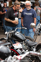 Chris Callen and Mondo Porras Iron Horse Saloon during the 78th annual Sturgis Motorcycle Rally. Sturgis, SD. USA. Sunday August 5, 2018. Photography ©2018 Michael Lichter.
