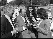 """Galway Oyster Festival..1982.09.09.1982.09.09.1982.9th September 1982..The Festival was held on the banks of the Shannon at Portumna Co.,Galway..It was held in the picturesque new marina. The event was sponsored by Guinness. Emerald Star line were also represented..Among those enjoying the oysters were, Mr Feargal O'Diomsaigh, Bertrach Teoranta Mr.R.B. Howick,Trade Director,Guinness Group Sales, the Oyster """"Pearl"""" Ms. Marion Fitzpatrick andMs. Anne Mulqueen, Guinness group Sales, Galway."""