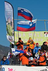 04.03.2011, Pista di Prampero, Tarvis, ITA, FIS Weltcup Ski Alpin, Supercombi der Damen, im Bild Slovenishce Fans // slovenian Suporters during Ladie's Supercombi FIS World Cup Alpin Ski in Tarvisio Italy on 4/3/2011. EXPA Pictures © 2011, PhotoCredit: EXPA/ J. Groder