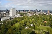 Nederland, Rotterdam, 15-9 2012, Uitzicht, panorama, over de stad en het park bij de euromast. Links het EMC, Erasmus Medisch Centrum. Erasmusuniversiteit. Medisch Centrum Rotterdam, academisch ziekenhuis, Erasmus MC.Foto: Flip Franssen/Hollandse Hoogte