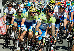 Jan Polanc, Matej Mohoric, Primoz Roglic, Grega Bole of Slovenia during the Men's Elite Road Race a 258.5km race from Kufstein to Innsbruck 582m at the 91st UCI Road World Championships 2018 / RR / RWC / on September 30, 2018 in Innsbruck, Austria. Photo by Vid Ponikvar / Sportida
