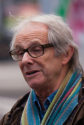 Methodist Central Hall, Westminster, March 17th 2015. Members of various housing groups from across the UK arrive at the Methodist Central Hall in London for the Homes for Britain Rally, which is aimed at highlighting the current housing crisis which affects low income workers, especially in London where rents and house prices are now well beyond their reach. Film director Ken Loach arrives at the rally.