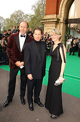 Left to right, LORD BRUCE DUNDAS, VISCOUNT LINLEY and LADY BRUCE DUNDAS at the NSPCC's Dream Auction held at The Royal Albert Hall, London on 9th May 2006.<br />
