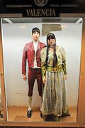 Display of traditional Spanish clothes from Valencia