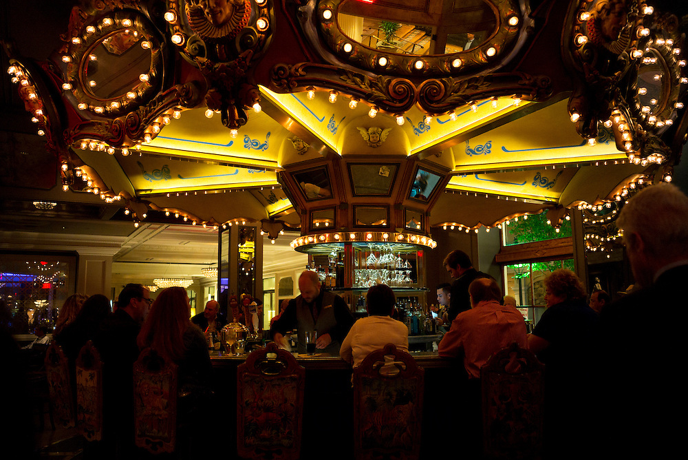 Famous carousel bar lounge in luxury high class Hotel Monteleone on Royal Street, French Quarter of New Orleans, USA