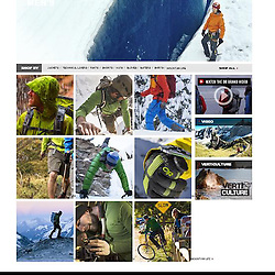A shot used for the Outdoor Research website banner for winter 2012-2013.  Jason Nelson in Alaska.