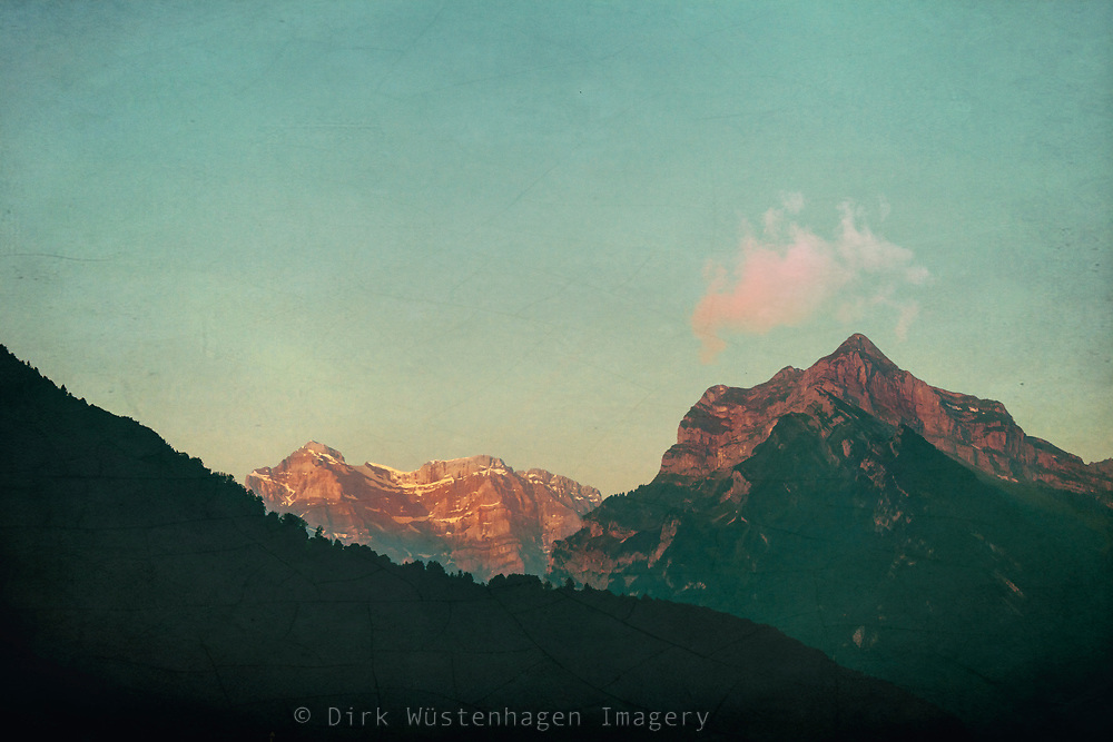 Morning light on mountains - Switzerland<br /> Redbubble --> https://www.redbubble.com/shop/ap/81854169?ref=studio-promote