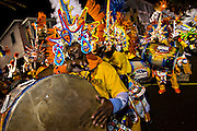 Costumed dancers celebrate the New Year with the Junkanoo Parade on January 1, 2013 in Nassau, Bahamas. The carnival like festival is celebrated in the early hours of the New Year and dates back to slavery days.