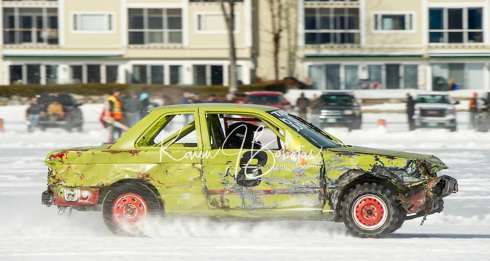 Nostalgic Latchkey Cup car racing on Meredith Bay.   Karen Bobotas for the Laconia Daily Sun
