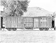 Side view of box car #3661 at Colorado Railroad Museum.<br /> D&RGW  Colorado Railroad Museum, Golden, CO  Taken by Payne, Andy M. - 10/17/1976