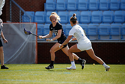 CHAPEL HILL, NC - MARCH 02: Lindsey McKone #23 of the Northwestern Wildcats during a game against the North Carolina Tar Heels on March 02, 2019 at the UNC Lacrosse and Soccer Stadium in Chapel Hill, North Carolina. North Carolina won 11-21. (Photo by Peyton Williams/US Lacrosse)