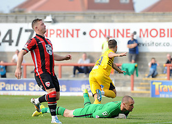 Billy Bodin of Bristol Rovers goes of to celebrate - Mandatory byline: Neil Brookman/JMP - 07966 386802 - 03/10/2015 - FOOTBALL - Globe Arena - Morecambe, England - Morecambe FC v Bristol Rovers - Sky Bet League Two