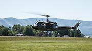 UH-1 Iroquois landing at WAAAM.