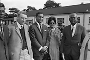 19/09/1967<br /> 09/19/1967<br /> 19 September 1967<br /> Goffs September Sales at Ballsbridge, Dublin. Picture shows Mr A Brabazon, trainer; Dr S. Rahaman; Dr N. Rahaman and Mr H. Rahaman M.B.E. from Guinea, who were at the sales.