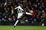 Allan Nyom of West Bromwich Albion in action. Premier league match, West Bromwich Albion v Swansea city at the Hawthorns stadium in West Bromwich, Midlands on Wednesday 14th December 2016. pic by Andrew Orchard, Andrew Orchard sports photography.