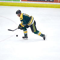 1st year forward, Connor Odelein (11) of the Regina Cougars during the Men's Hockey Home Game on Sat Jan 19 at Co-operators Center. Credit: Arthur Ward/Arthur Images