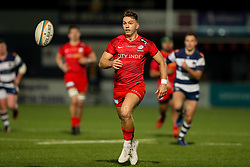 Alex Lewington of Saracens chases a ball - Mandatory by-line: Nick Browning/JMP - 26/02/2021 - RUGBY - Butts Park Arena - Coventry, England - Coventry Rugby v Saracens - Friendly