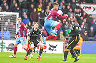 Kyle Wootton of Scunthorpe United (29) in action during the EFL Sky Bet League 1 match between Scunthorpe United and Bradford City at Glanford Park, Scunthorpe, England on 27 April 2019.