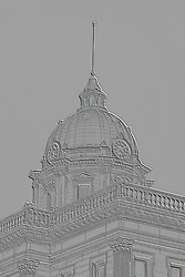 01 February 2008: Dome of the historical McLean County Courthouse This image was produced in part utilizing High Dynamic Range (HDR) or panoramic stitching or other computer software manipulation processes. It should not be used editorially without being listed as an illustration or with a disclaimer. It may or may not be an accurate representation of the scene as originally photographed and the finished image is the creation of the photographer.