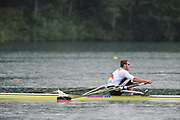 Bled, SLOVENIA,  GER M1X. Marcel HACKER during his semi final of the 1st FISA World Cup. Second day. Rowing Course. Lake Bled.  Saturday  29/05/2010  [Mandatory Credit Peter Spurrier/ Intersport Images]